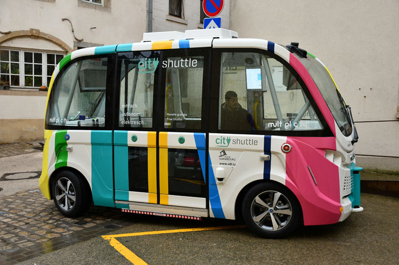 Automated shuttles in Luxembourg