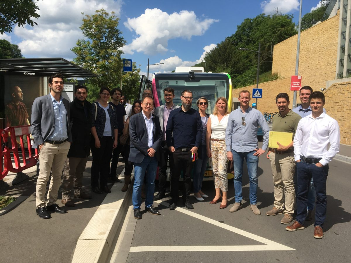 TERMINAL team tested autonomous City Shuttle in Luxembourg