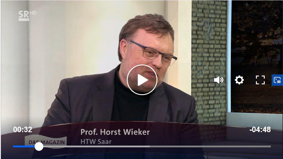 "Prof. Horst Wieker guest of ""Wir im Saarland"""
