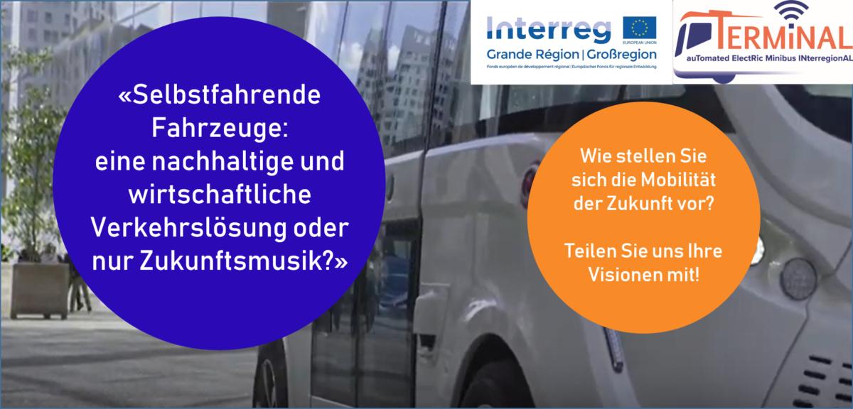 Umfrage zur Nutzerakzeptanz von selbstfahrenden Fahrzeugen in der Großregion geht online