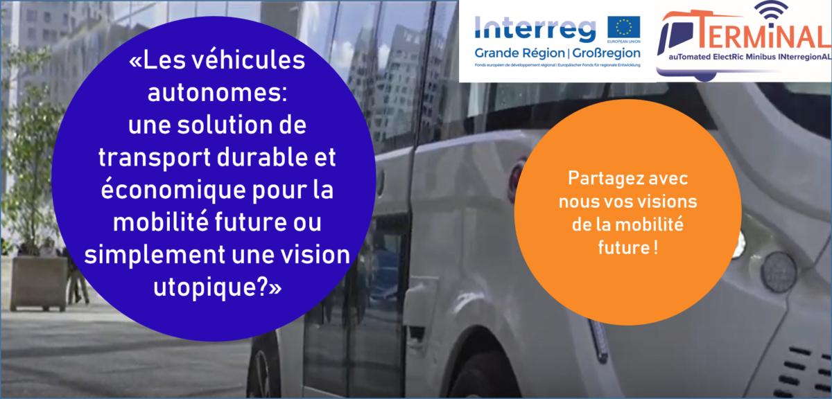 Mise en ligne d'une enquête sur l'acceptation par les usagers des véhicules autonomes dans la Grande Région
